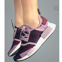 ADIDAS NMD Women Running Sport Casual Shoes Sneakers camouflage Purpel