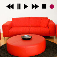 Vinyl Wall Decal Sticker Play Buttons #OS_MB897