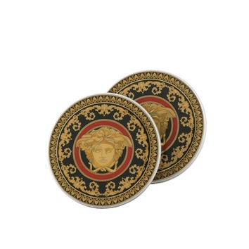 Versace Medusa Porcelain Coasters  Set of 2