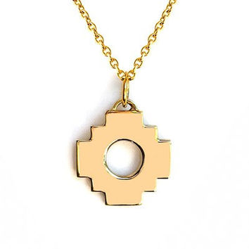 Chakana Cross Necklace 12mm (Gold / Silver)