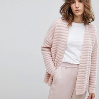 Selected Ribbed Knit Cardigan at asos.com