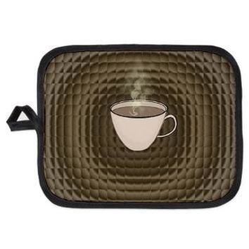 Hot Coffee Mosaic Potholder> Coffee> Flamin Graphic Designs