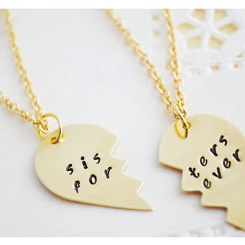 Sisters Gifts - Sister Necklace - Big Sister Necklace - Little Sister - Best Friend Necklace - Gold Filled - Personalized Jewelry