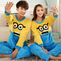 Despicable Me Cartoon Adult Minion Pajamas Couples