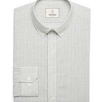 Carey Gingham Dress Shirt In Pearl