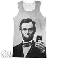 Abraham Lincoln Selfie Racerback Tank Top