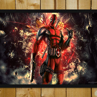 Deadpool 2013 Artwork Glass Framed Poster