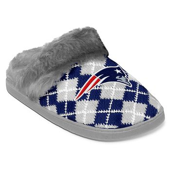 New England Patriots Women's Argyle Slippers