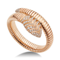 Serpenti Rose Gold Diamond Bracelet BR856845 | BVLGARI