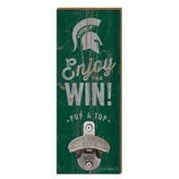 Legacy Athletic Michigan State Spartans Wall Mount Bottle Opener (Green)