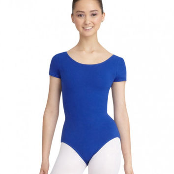 Adult Short Sleeve Leotard (Royal) CC400