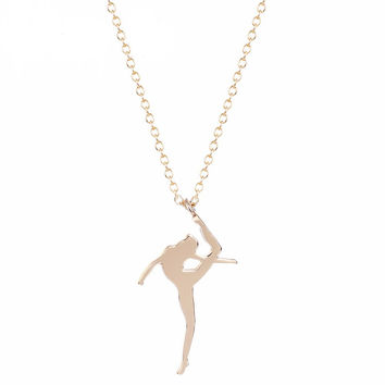 Ballet Rhinestone Pendant Necklace  , the perfect  Gift for Girl or Women