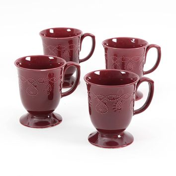 The Pioneer Woman Cowgirl Lace Mug Set, Set of 4 (Plum)