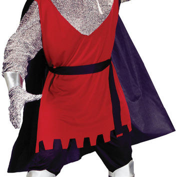 men's costume: medieval knight - red tunic | large