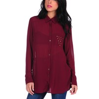 Lucca Couture LC Cutout Top