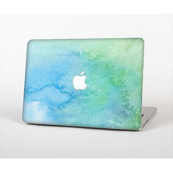 The Subtle Green & Blue Watercolor Skin Set for the Apple MacBook Air 11""