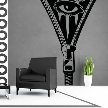 Vinyl Wall Decal Sticker Abstract Zipper Eye #OS_AA1356