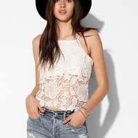 Pins And Needles Lace Overlay Cami - Urban Outfitters