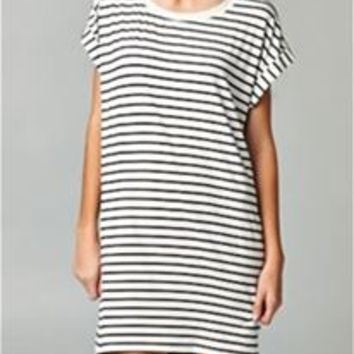 Ellison Black and White Striped Tunic RD9168