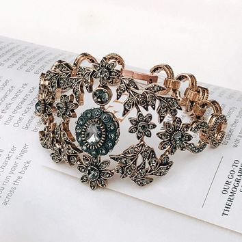 Bronze Antique Gold Bridal Bracelet, Great Gatsby Jewelry Bracelet, Victorian Bracelet