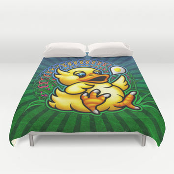Fat Chocobo Duvet Cover by Likelikes