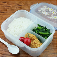 Dinnerware Sets PP Bento Lunch Box Food Container Handle Singel Layer Lunch Box TableWare