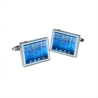 Computer Tablet Style Cufflinks & Gift Pouch Apple Gadget Mens Present