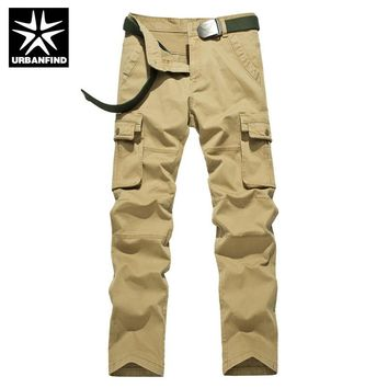 Tactical Trousers Size 29-38 Man Spring Autumn Fashion Clothing Men Loose Cargo Pants Cotton No Belt
