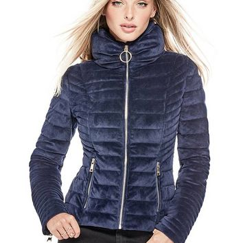 Teoma Quilted Jacket at Guess