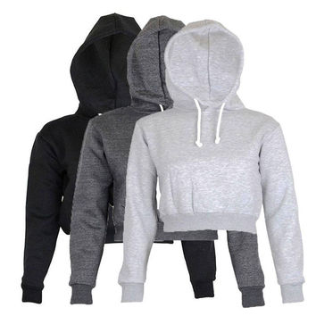 Cheap solid pullovers sudaderas mujer 2017 spring women hoodies sweatshirts 3 colors large size fashion feminino short style