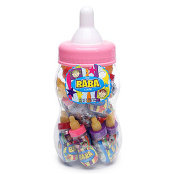 The BaBa Candy Filled Baby Bottles Jumbo Container - Pink