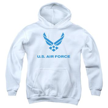Air Force - Distressed Logo Youth Pull Over Hoodie