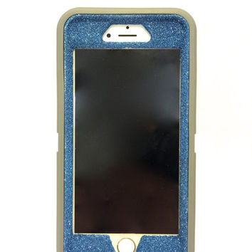 iPhone 6 Plus OtterBox Defender Series Case Glitter Cute Sparkly Bling Defender Series Custom Case gray / blue