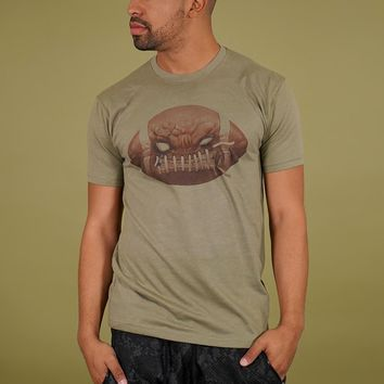 Mad Football Olive Light Tri-Blend T-Shirt