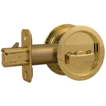 Round Pocket Door Lock Bed/Bath Latch