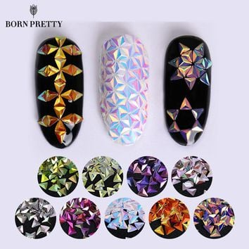 Nail Sequins Triangle Star Iridescent Flakies Tips Manicure 3D Nail Art Decoration