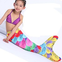 Myle Factory Own Design 17 Color Swimmable Mermaid Tail W Monofin Christmas and birthday gift Halloween Costume Girls Kids Child
