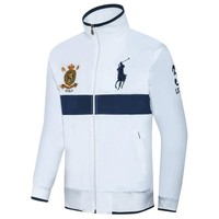 Polo Ralph Lauren 2018 new men's fine embroidered thin windproof cardigan jacket White