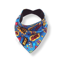 Baby Bandana Bib Scarf in Superhero Cotton with Snap Closure for Boy or Girl