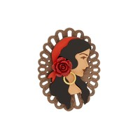Folklore Rose Brooch