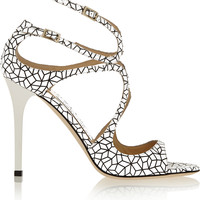 Jimmy Choo - Lang printed patent-leather sandals