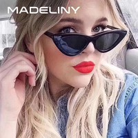 MADELINY Cat Eye Sunglasses For Women Brand Designer Retro Sun Glasses Female Vintage Small Cat Eye Glasses UV400 2018 MA401