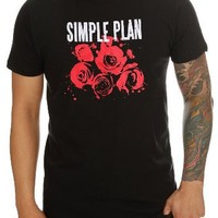 Simple Plan Roses T-Shirt Size : X-Small