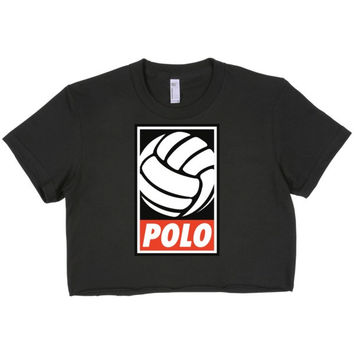 POLO Graphic crop top