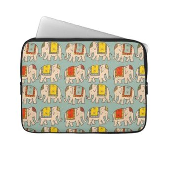 Good luck circus elephants cute elephant pattern laptop computer sleeves