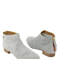 Eye Solid Color Zipper Embellished Suede Leather Booties - Italian Summer Shoes by Eye Brand - Modnique.com
