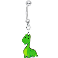 Cute Green Dino Belly Ring | Body Candy Body Jewelry