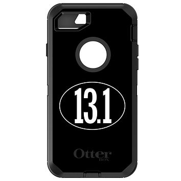 DistinctInk™ OtterBox Defender Series Case for Apple iPhone / Samsung Galaxy / Google Pixel - Black White 13.1 Half Marathon Run
