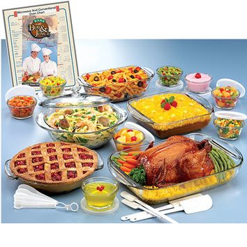 Anchor Hocking-34-piece Glass Ovenware Set