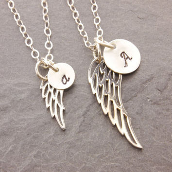 Mom And Daughter Necklace Bird Wing Angel Feather Ma